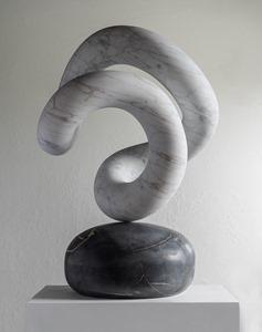 Eo: CARRARA MARBLE, 2018: W 45cm, H 70 cm, D 45 cm; SOLD