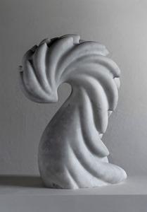 Farok: CARRARA MARBLE, 2018: W 33cm, H 45 cm, D 15 cm; £7,800