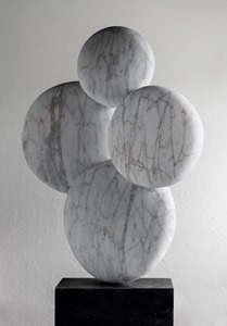 Girot: CARRARA MARBLE, 2018: W 53cm, H 81 cm, D 19 cm; currently exhibiting with Everard Read, London