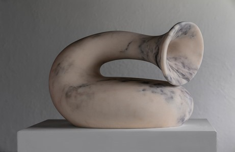 Hiru: PORTUGUESE MARBLE, 2018: W 43cm, H 32 cm, D 25 cm; currently exhibiting with Everard Read, London