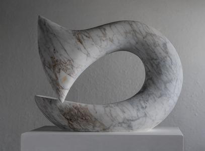 Iksan: CARRARA MARBLE, 2018: W 54cm, H 46 cm, D 23 cm; SOLD