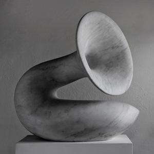 Kombu: CARRARA MARBLE, 2019: W 76cm, H 71 cm, D 53 cm; £18,000
