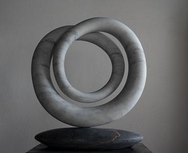 Kurro: CARRARA MARBLE, 2019: W 54cm, H 60 cm, D 15 cm; SOLD