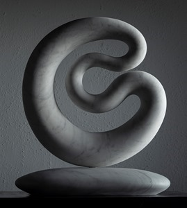 Lacoba: CARRARA MARBLE, 2020: W 36cm, H 45 cm, D 8 cm; currently exhibiting with Everard Read London