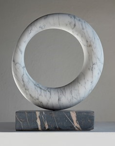 Milne: CARRARA MARBLE, 2018: W 31cm, H 40 cm, D 8 cm; currently exhibiting with Everard Read, London