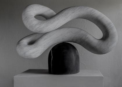 Otir: CARRARA MARBLE, 2018: W 64cm, H 49 cm, D 27 cm; currently exhibiting with Everard Read, London