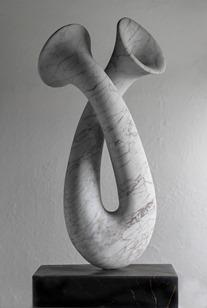 Seffi: CARRARA MARBLE, 2019: W 40cm, H 91 cm, D 21 cm; currently exhibiting with Everard Read, London