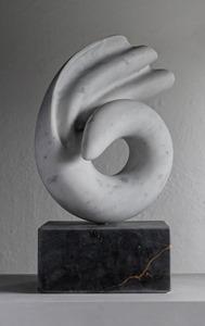 Shio: CARRARA MARBLE, 2018: W 37cm, H 57 cm, D 15 cm; POA