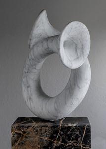 Sol: CARRARA MARBLE, 2018: W 41cm, H 79 cm, D 30 cm; £15,400