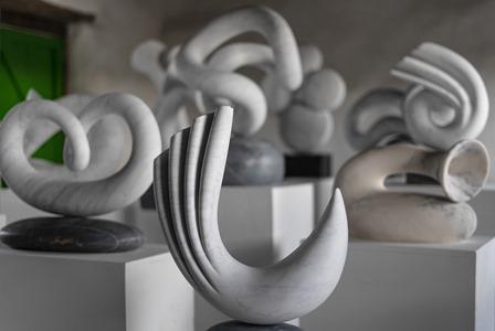 'Fanfare' exhibition, in situ at William Peers' studio, Cornwall