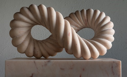 Volpin: PORTUGUESE MARBLE, 2020: W 44cm, H 30 cm, D 16 cm; currently exhibiting with Everard Read London