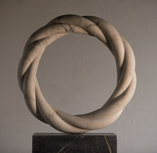 Cornula: CARRARA MARBLE, 2017: W 62cm, H 62 cm, D 10 cm; SOLD
