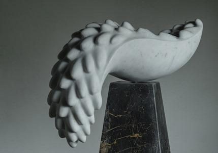 Menura: CARRARA MARBLE, 2016: W 60cm, H 57 cm, D 23 cm; £7,200