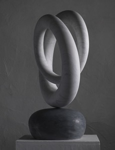 Tasil: CARRARA MARBLE, 2017: W 65cm, H 83 cm, D 24 cm; currently being exhibited www.jmlondon.com