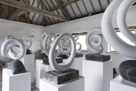 Marble sculptures in William's studio