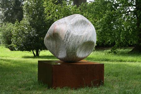 Orbit: PORTUGUESE MARBLE, 2009: W 100 cm, H 152 cm, D 100 cm (Size includes base); £24,000