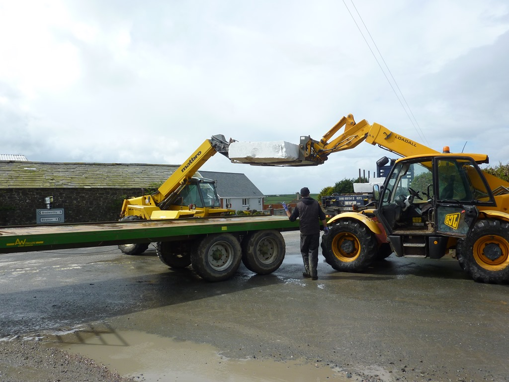 Unloading marble in Cornwall