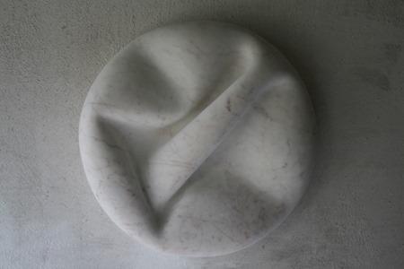 SHIORI: PORTUGUESE MARBLE, 2012; W 61 cm, H 61 cm, D 14cm; £9,500